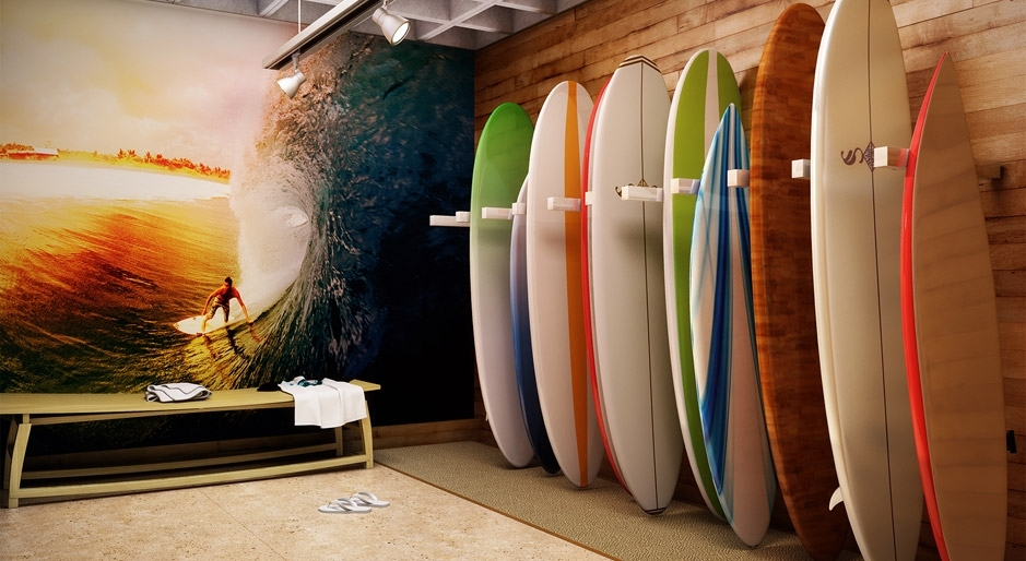 Perspectiva ilustrada do Surf Stop
